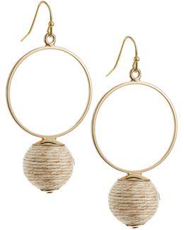 Circle Drop Wrap Earrings