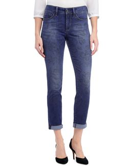Alina Convertible Ankle-print Jeans