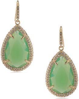 Teardrop Opal Drop Earrings