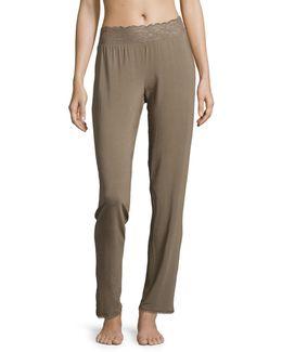 Lace Trim Sleep Pants
