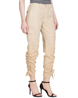 Petite Twill Cargo Joggers