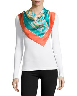 Audrey Silk Square Scarf