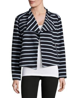Flyaway Striped Jacket