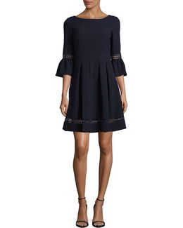Bell Sleeve Fit-and-flare Dress