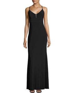 Deep-v Jersey Gown