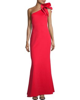 One Shoulder Column Gown