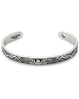 Swarovski Crystal Studded Godspeed Cuff Bracelet
