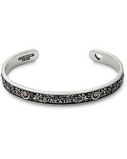 Swarovski Crystal Fortunes Favour Rafaelian Silverplated Cuff Bracelet