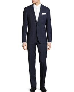 C-huston Virgin Wool Two-button Suit
