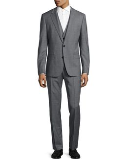 C-huge Three-piece Two-button Suit