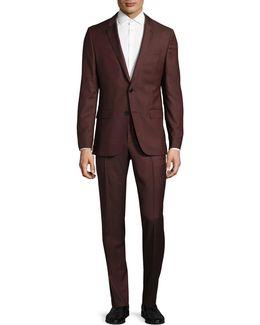 C-harvey Virgin Wool Two-button Suit