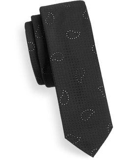 Minimalist Paisley Silk Tie