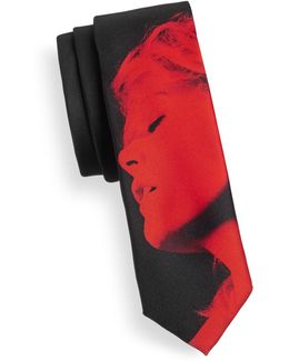 Profile Graphic Silk Tie
