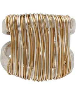Wired Warrior Two-tone Wrapped Sculptured Ring