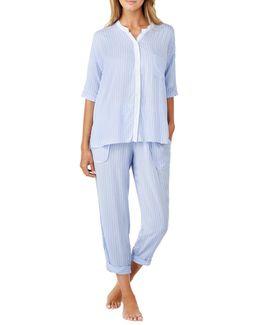 Printed Capri Pyjama Set