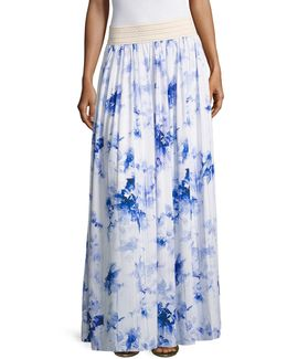 Farah Crochet Floral Maxi Skirt