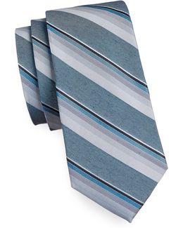 Tonal Stripe Silk Blend Tie