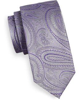 Paisley Silk Blend Tie