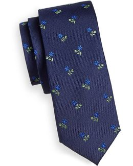 Sprouting Floral Silk Tie