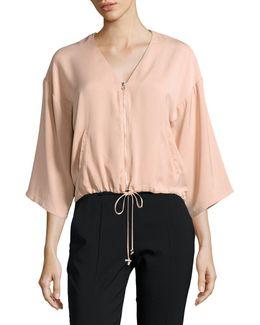 Zip-front Blouson Jacket