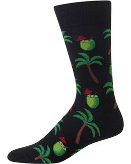 Coconut Print Crew Socks