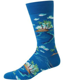 Island Scenic Crew Socks