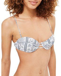Floral Stripe Balconette Bikini Top