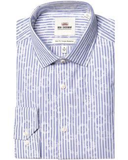 Striped Wrinkle Free Slim Fit Dress Shirt