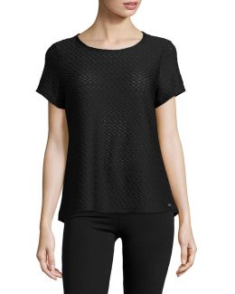Textured Back Cut-out Tee