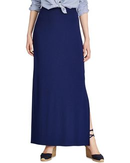 Stretch Interlock Maxi Skirt
