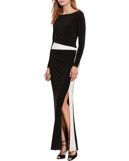Colourblock Jersey Gown