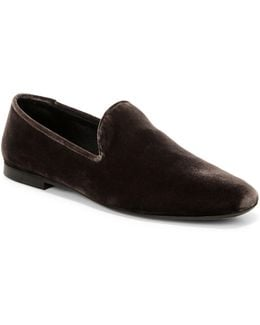 Bray Textured Leather Loafers