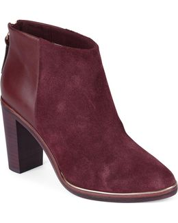 Azaila Leather-suede Ankle Boots
