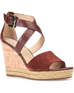 Janira Leather-suede Wedge Sandals