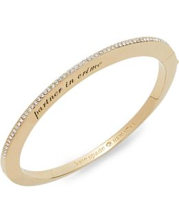 Her Day To Shine Partners In Crime Bangle Bracelet