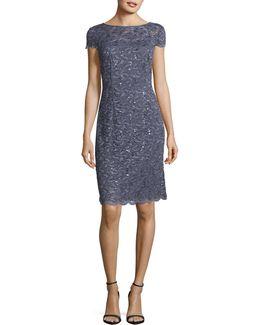 Cap Sleeve Lace Dress