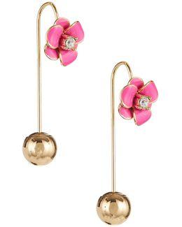 Shine On Flower Hanger Earrings