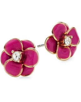 Shine On Flower Stud Earrings