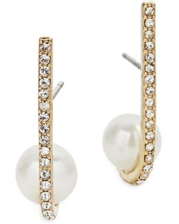 Shine On Bead Cuff Earrings