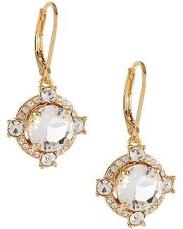 Crystal Cascade Leverback Earrings