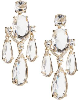 Crystal Cascade Statement Earrings