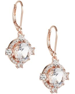 Crystal Cascade Leverback Earrings