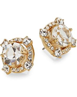 Crystal Cascade Stud Earrings