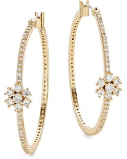 Clink Of Ice Medium Hoop Earrings