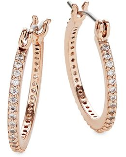 Clink Of Ice Small Hoop Earrings