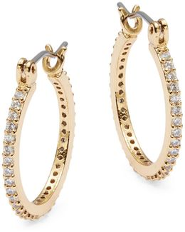 Clink Of Ice Small Crystal Pave Hoops