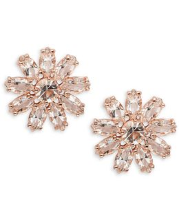 Crystal Gardens Floral Stud Earrings