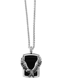 925 Sterling Silver Onyx Pendant