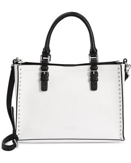 Studded Unlined Tote Bag