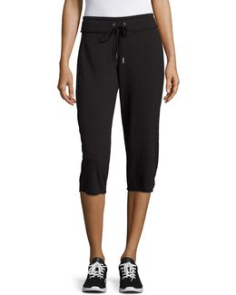 Cotton Cropped Sweatpants